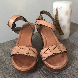 Banana Republic wooden clog heels